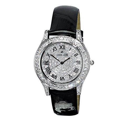 Adee Kaye Rhines Crystal Pave Dial Ladies Watch AK9257-L