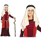 Costume pastorello arabo rosso giudeo Presepe vivente bambino 5-6 anni