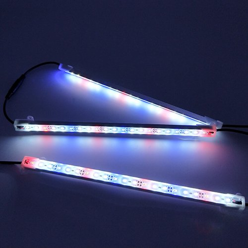 HAMRVL 5730 Aquarium Coral LED Strip Light Spool Waterproof LED Plant Grow String Lights DC 12V 1ft 3Pcs with Power and Remote (1Red 2White ()