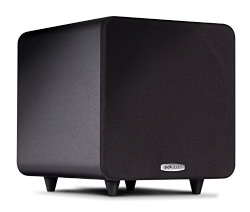 Polk Audio PSW111 Compact Powered 8″ Subwoofer | Up to 300 Watt Amp | Stylish Looks, Big Bass at Great Value | Easy Integration with Home Theater Systems