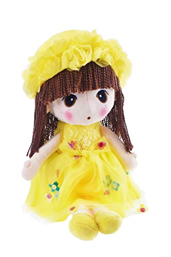 (HWD Kawaii Flower Fairy Stuffed Soft Plush Toy Doll Girls Gift , 18 Inch ( Yellow ))