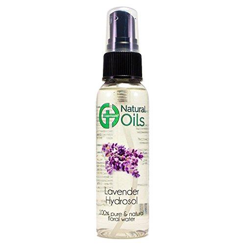 Lavender Hydrosol - 2 fl oz Plastic Bottle w/Black Spray Cap - 100% pure, distilled from essential oil