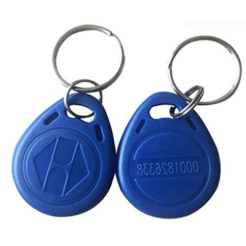 OBO Hands 125KHz Rewritable RFID Keychain Keyfobs T5577 Key token Tag for Access Control User Card Blue(100) by OBO Hands