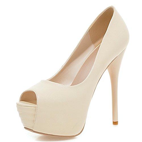 Fashion Heel - plataforma mujer Beige