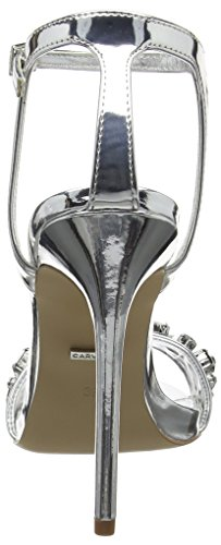 Carvela Women's Gail Np Open-Toe Heels Silver (Silver) zY7EB88MHF