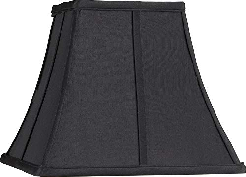 Square Curved Black Lamp Shade 6x11x9.75 (Spider) - Springcrest (Colored Lamp Shades)