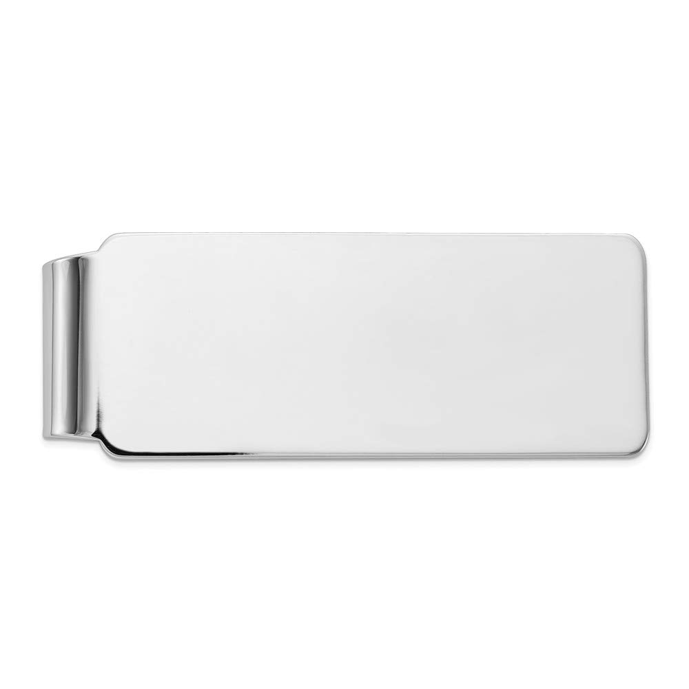 Sterling Silver Money Clip Mens Solid 20 mm 52 mm Money Clips Accessory