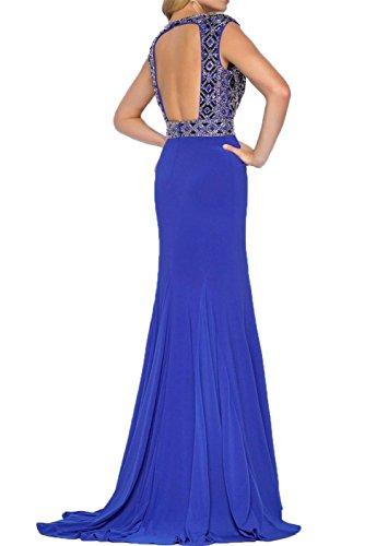 Damen Perlen etuikleider Neu Abendkleider Langes Abshlussballkleider Charmant Royal Blau festlichkleider Partykleider Pink dwUZcx