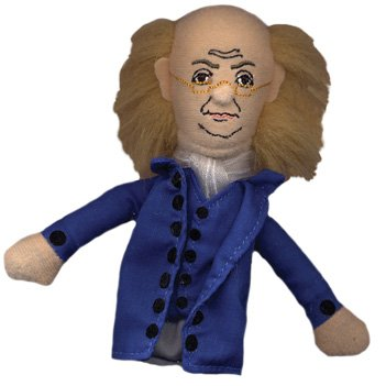 The Unemployed Philosophers Guild Benjamin Franklin Finger Puppet and Refrigerator Magnet - for Kids and Adults (Benjamin Franklin Puppet)