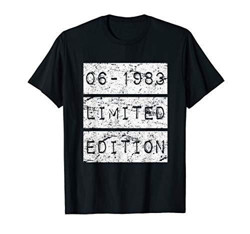 - June 1983 Limited Edition Vintage 36th Birthday T Shirt