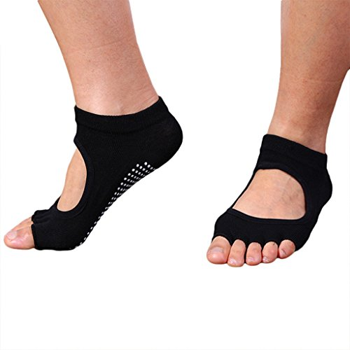 RUIXI-Womens-6-Pack-Yoga-Ankel-Five-Fingers-Fitness-Socks-Socks