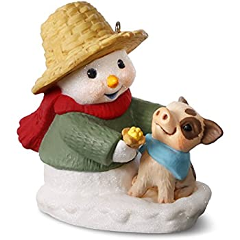 Fox and Rabbit Ornament 2017 Hallmark Snow Buddies 20th Anniversary Snowman