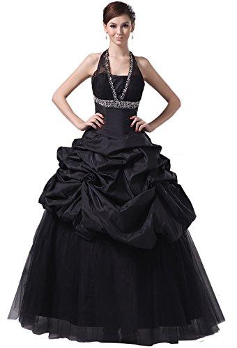 Angel Formal Dresses Lace-up Black Pick Ups Crystals Wedding Dress(18,White)