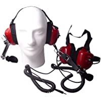 Race Day Electronics Fan Intercom System Two Way Headsets, Red