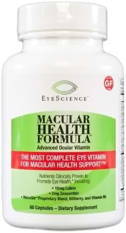 EyeScience Macular Health Formula Advanced Ocular Vitamin by EyeScience Labs