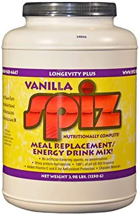 SPIZ Vanila Meal Replacement Liquid Food 508 Calories Serving, Electrolytes,Vitamins, Minerals, hydrolyzed whey Protein. No Caffeine, no Artificial sweeteners