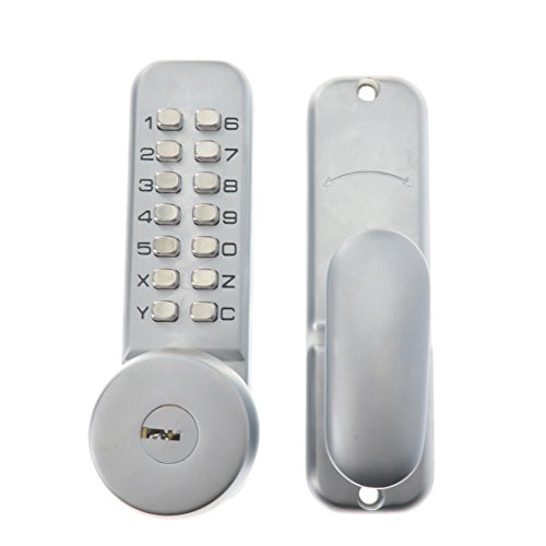 Toyofmine All-Weather Mechanical Keyless Digital Keypad Door Lock - Satin Chrome by toyofmine