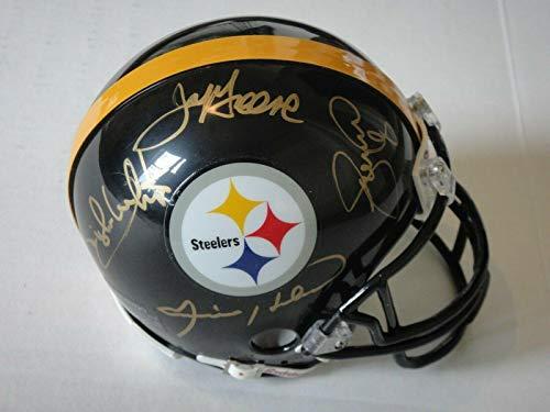 Pittsburgh Steelers Steel Curtain Signed Mini Helmet Beckett (bas) Autographedx4 - Beckett Authentication