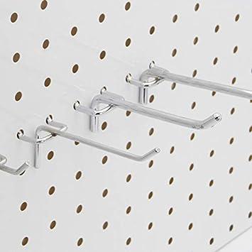 20 cm de largo, 32mm Distancia del agujero 10PCS Ganchos de tablero perforado Perchero de herramientas de organizaci/ón del taller de almacenamiento