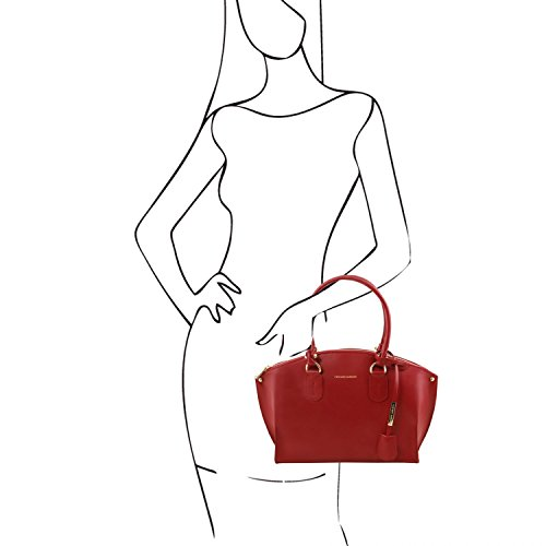 Tuscany shopper Ruga Diana pelle TL141643 in Rosso Avorio Leather Borsa rqFr6