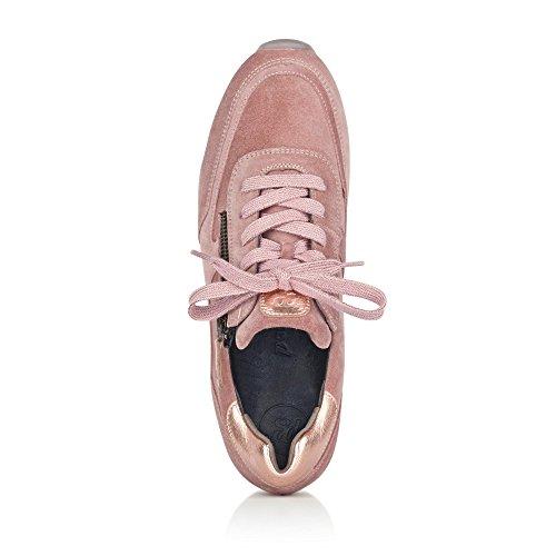 Paul Green 4560-031 Sneaker Da Donna Realizzata In Pregiata Cerniera In Pelle E Allacciatura Rosé
