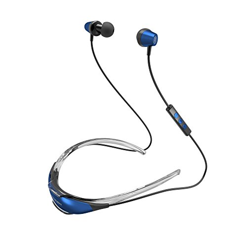 Coolcat Bluetooth Headphones V4.1 Wireless Neckband Stereo Noise Cancelling Earbuds Bluetooth Headset with Mic for iphone and Samsung Cell phone (Blue)