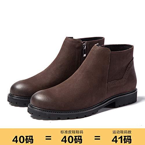 LOVDRAM Stiefel Männer Herbst Herrenschuhe Hohe Schuhe Herren Leder Mode Sportschuhe Mode Männer Martin Stiefel Männer Kurze Stiefel
