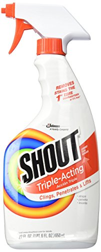 Shout Laundry Stain Remover Trigger Spray, 22 Fl Oz, pack of 4