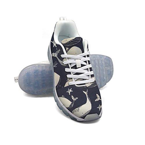 Faaerd Vintage Hvaler-01 Kvinders Åndbar Mesh Luftpude Udendørs Sport Løbesko Letvægts Afslappet Sneakers dQ2d0JsTgU