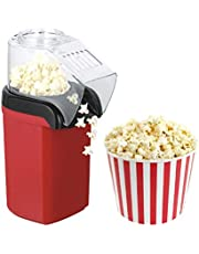 Hot Air Popcorn Maker Machine 1200W, Home Low Fat Popcorn Machine, Popcorn Popper Without Oil For Office,Family, Kids Healthy Oil-Free for Parties & Kids Easy to Clean, 2-3 Minutes Fast, Red