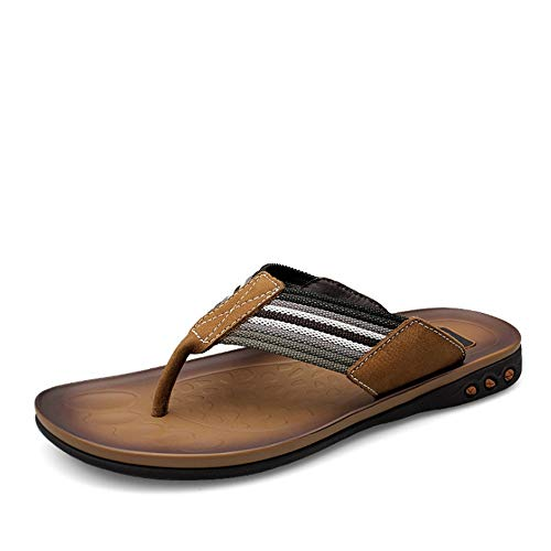 Esterno 40 3 Wagsiyi Colore Dimensione Marrone pantofole Marrone Pantofole Comode EU In Uomo Pelle Da 2 spiaggia Pantofole Scarpe Per Da Uomo da FUzqF