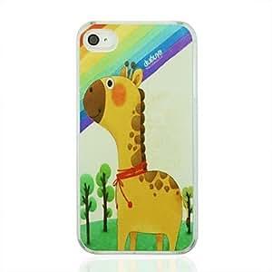 ZMY caso duro de la jirafa de la vena del cuero del patrón pc para el iphone 4 / 4s