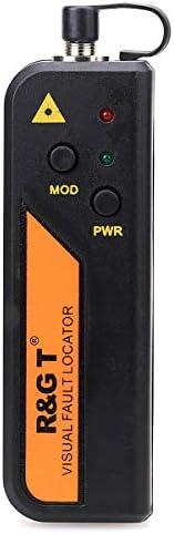 30KM FTTH Mini VFL Localizador de Falla Visual Conector Universal, Equipo de Medidor de Cable de Fibra Óptica para Mantenimiento de Ingeniería de Telecomunicaciones CATV.