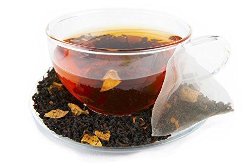 Zest Tea - Apple Cinnamon Black High Caffeine Energy Tea, 16 Count Tea Sachets - Pieces of Cinnamon and Apple in a South Indian Nilgiri Black Tea, Packaged in Premium Pyramid Bags