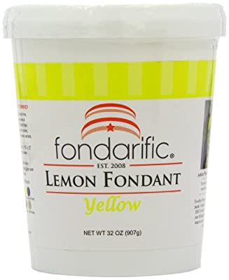 Fondarific Lemon Fondant, 2-Pounds