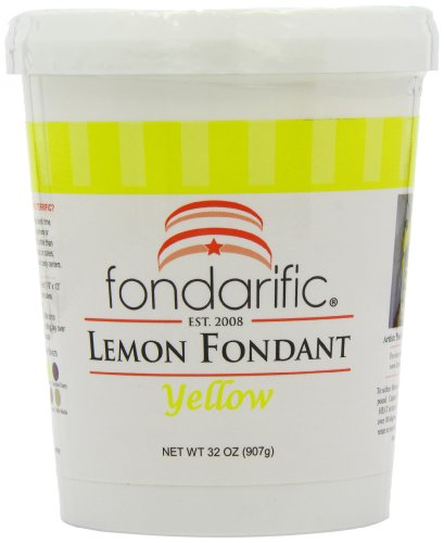 Lemon Buttercream Frosting (Fondarific Lemon Fondant, 2-Pounds)