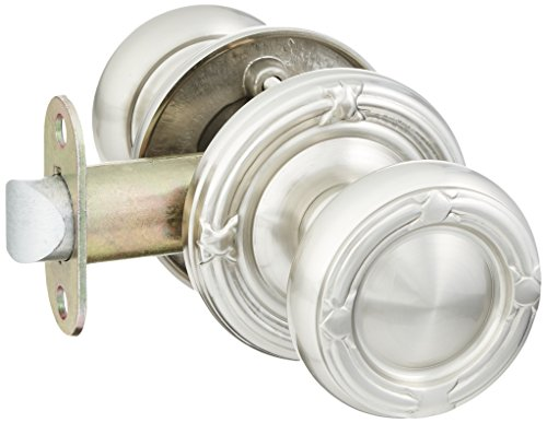 Set With Round Brass Knobs Passage In Satin Nickel. Old Door Knobs And Hardware. ()