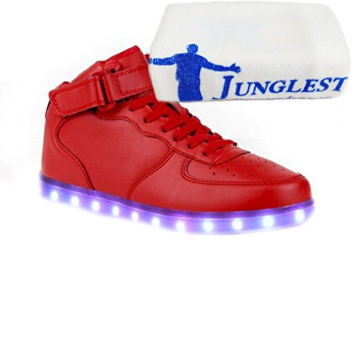 small Couple High USB Sneakers for Lighted Luminous Present 7 LED JUNGLEST® Charging Colors towel Top Sport Casual Red Shoes dpSwSqv4