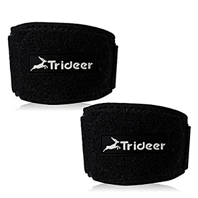 ( 1 & 2 Pack ) Tennis Elbow Brace with Compression Pad, TRIDEER Adjustable Golf Elbow Support Strap for Tendonitis, Pain Relief, Ease Symptoms of Tennis, Golfers, Racket Sports Players, Men, Women