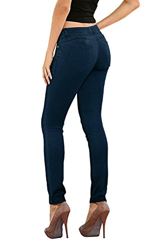 HyBrid & Company Women's Butt Lift Stretch Denim Jeans-P37374SK-INDIGO-15