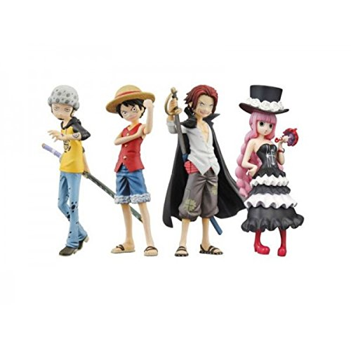 """Bandai Tamashii Nations Promise of The Straw Hat """"One Piece"""" Half Age Toy Figures, Set of 8"""