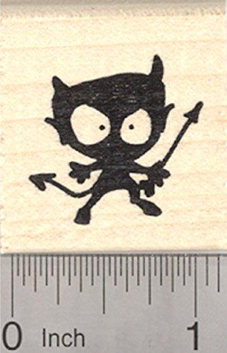 - Little Devil Silhouette Rubber Stamp, Valentine's Day, Halloween
