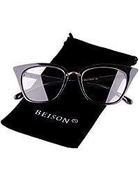 Womens Cat Eye Mod Fashion Eyeglasses Frame Clear Lens