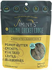 Jiminy's Cricket Protein Peanut Butter & Blueberry Cricket Cookie Treats | 100% Made in The USA | Glut