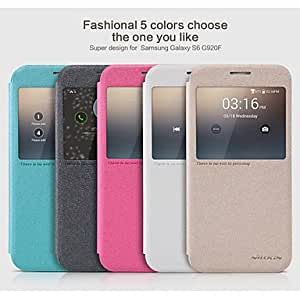 SHOUJIKE Sparkle Smart Full Body Cases with Open Window for Samsung Galaxy S6 / G920F (Assorted Colors) , Black