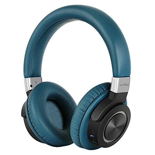 Amazing Clear Sound Bluetooth 4.2 Headphones Over Ear, Wireless with Mic, Low Latency Aptx Lossless Audio for TV PC Cell Phones, Perfect for Women and Men, Longer 50 Hour Battery, Carrying Case - Home Audio Noise Canceling Headphones