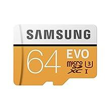 Samsung 64GB 100MB/s (U3) MicroSDXC EVO Memory Card with Adapter (MB-MP64GA/AM)