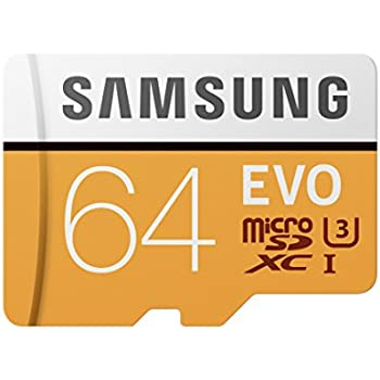 Samsung 100MB/s (U3) MicroSD EVO Memory Card with Adapter 64 GB (MB-MP64GA/AM)