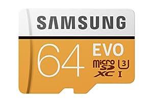 Samsung 100MB/s (U3) MicroSD EVO Memory Card with Adapter 64 GB (MB-MP64GA/AM)