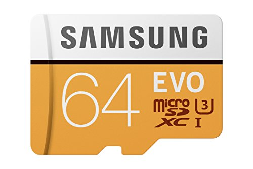 Samsung 64GB 100MB/s (U3) MicroSDXC EVO Memory Card with Adapter (MB-MP64GA/AM)